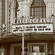 Terre Haute - Indiana Theater Art Print