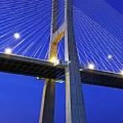 Vasco Da Gama Bridge In Lisbon Art Print