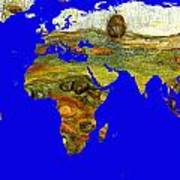 Modern World Map  Art Print