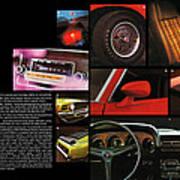 '70 Mustang Options Art Print