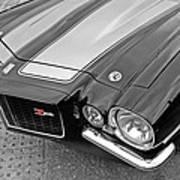 71 Camaro Z28 In Black And White Art Print