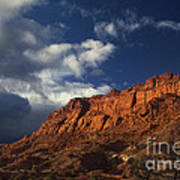 clearing storm waterpocket fold capitol reef NP Art Print