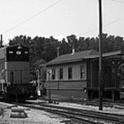 760 Passing The Yard House Bw Art Print