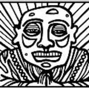Lorton Buddha Black And White Art Print
