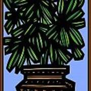 Kisiel Plant Leaves Green Black Art Print