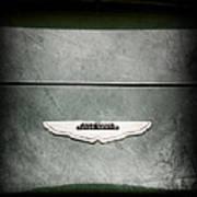 1959 Aston Martin Db4 Gt Hood Emblem Art Print