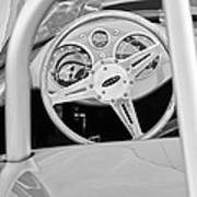 1959 Devin Ss Steering Wheel Art Print