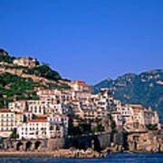 Amalfi Town In Italy Art Print by George Atsametakis