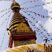Bodhnath Stupa In Nepal Art Print