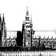 Cathedral Of St Vitus Art Print