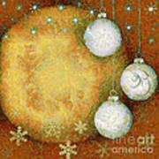 Christmas Background Art Print