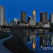 Columbus Ohio Skyline At Night Art Print