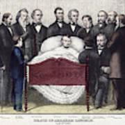 Death Of Lincoln, 1865 Art Print