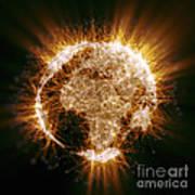 Earths Energy Art Print