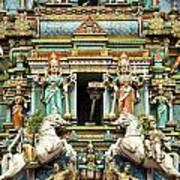 Hindu Temple With Indian Gods Kuala Lumpur Malaysia Art Print
