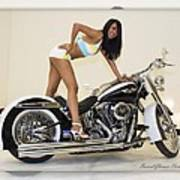 Models And Motorcycles Art Print