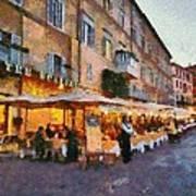 Piazza Navona In Rome Art Print