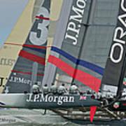 San Francisco Sailboat Racing Art Print