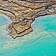 Sinkholes In Northern Dead Sea Area Print by Ofir Ben Tov