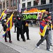 Tibetan Protest March Art Print
