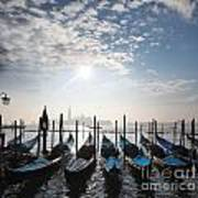 Venice With Gondolas Art Print