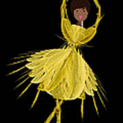 8 Yellow Ballerina Art Print