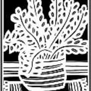 Schwiebert Plant Leaves Black And White Art Print