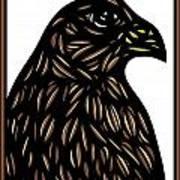 Labore Eagle Hawk Brown White Art Print