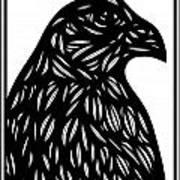 Bruh Eagle Hawk Black And White Art Print