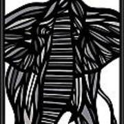 Batra Elephant Grey Black White Art Print