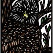 Mitzner Eagle Hawk Green Black Brown Art Print