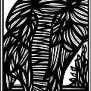 Cubr Elephant Black And White Art Print
