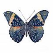 89 Red Cracker Butterfly Art Print