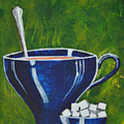 8x10 Tea Cup With Sugar Cubes Art Print