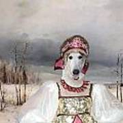Borzoi - Russian Wolfhound Art Canvas Print Art Print