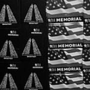 9/11 Memorial For Sale In Black And White Art Print