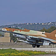 An F-16d Barak Of The Israeli Air Force Art Print
