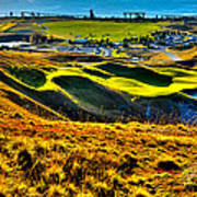 #9 At Chambers Bay Golf Course - Location Of The 2015 U.s. Open Tournament Art Print by David Patterson