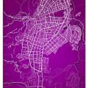 Cali Street Map - Cali Colombia Road Map Art On Colored Back Art Print