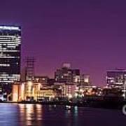 City Lights Skyline Art Print