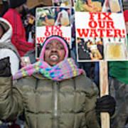 Flint Drinking Water Protest Art Print