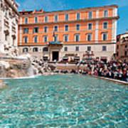 Fontana Di Trevi In Rome Art Print