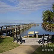 Melbourne Beach Pier In Florida Art Print