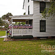 Ryckman House In Melbourne Beach Florida Art Print by Allan  Hughes