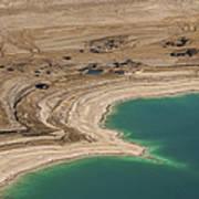 Sinkholes In Northern Dead Sea Area Art Print by Ofir Ben Tov