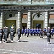 Stockholm Guard Change Art Print
