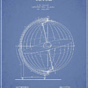 Terrestro Sidereal Globe Patent Drawing From 1886 Art Print