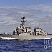 The Guided-missile Destroyer Uss Art Print
