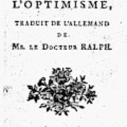 Voltaire Candide Art Print