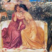 Sappho And Erinna In A Garden Art Print